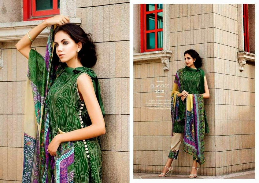 Resham Ghar Eid Collection 2014 | Digital Printed Chiffon Dresses