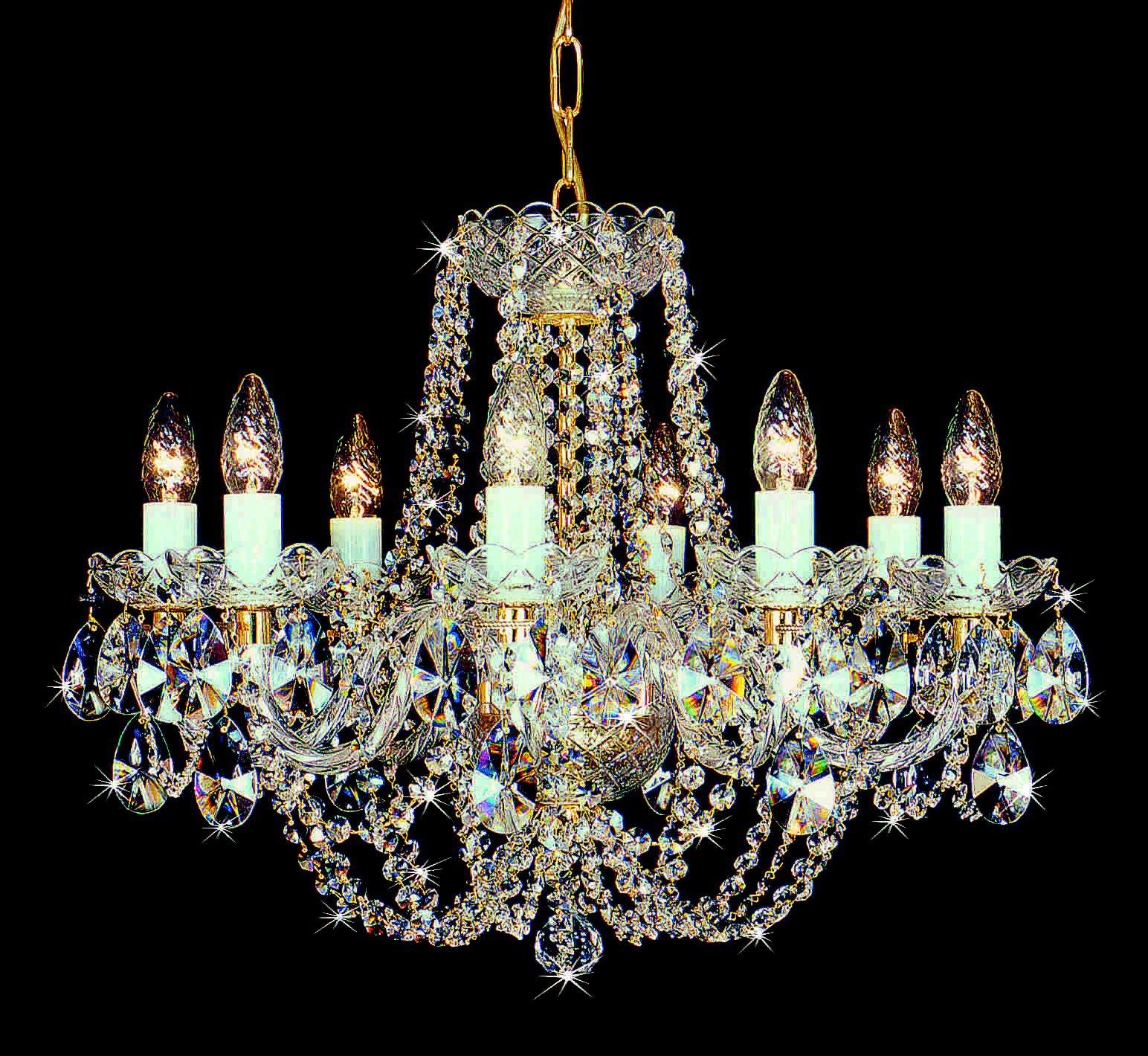 El rinc n vintage de karmela chandeliers de cristal un - Lamparas de cristal de colores ...