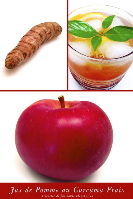 1 recette de jus sant jus de pomme au curcuma frais. Black Bedroom Furniture Sets. Home Design Ideas