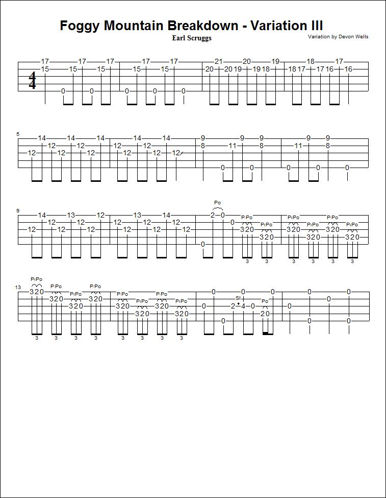 Devonu0026#39;s Banjo Homeplace: Foggy Mountain Breakdown - Variation III