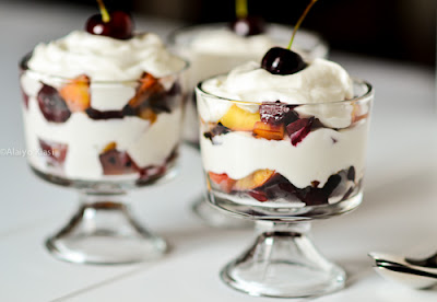 Grilled Stone Fruits with Yogurt