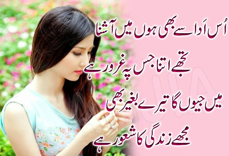 Sad Poetry 2 Lines Urdu: Best Love & Romantic shayari from famous ...