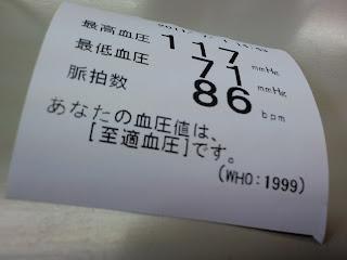 血圧測定結果の紙