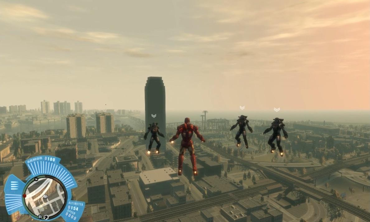 Ironman air combat online game