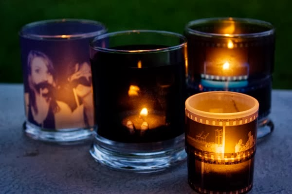 DIY Photo Negatives Candle Holder
