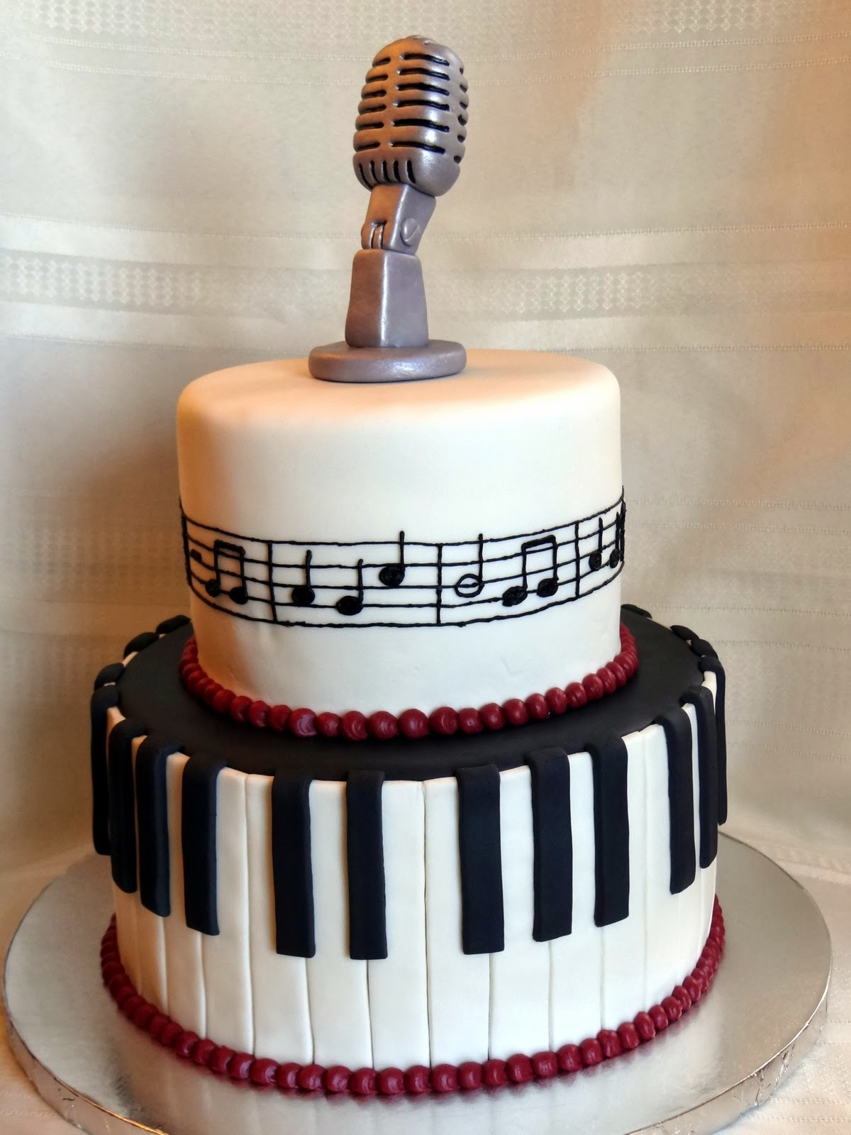 Tiers Of Joy Cakery Music Cake With Keyboard Amp Microphone