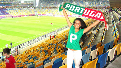 Portugal girls fans Euro 2012