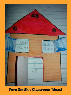 Picture of Fern Smith's Multiplication and Division Fact Families Center Game and Interactive Notebook Activity!