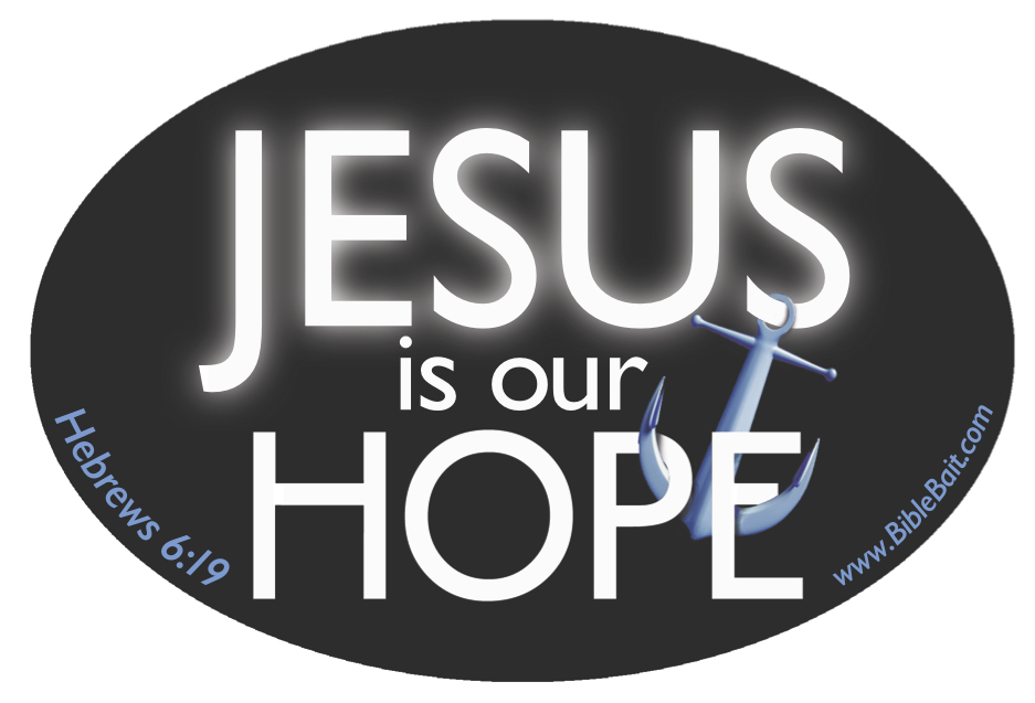 Jesus Is Our Hope Bumper Sticker