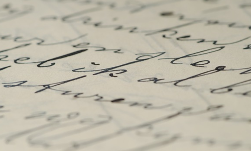 Inspiration for the day written in beautiful calligraphy.