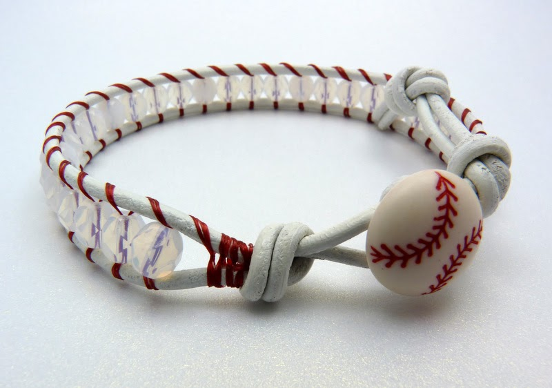 Lucy Larry Jewelry Designs For The Slightly Mischievous New Items Baseball Leather Wrap Bracelets
