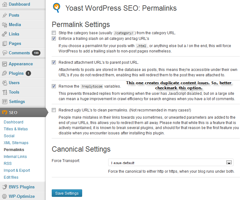 Best Permalinks settings for WordPress