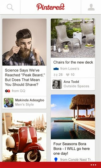 Pinterest BETA for Windows Phone