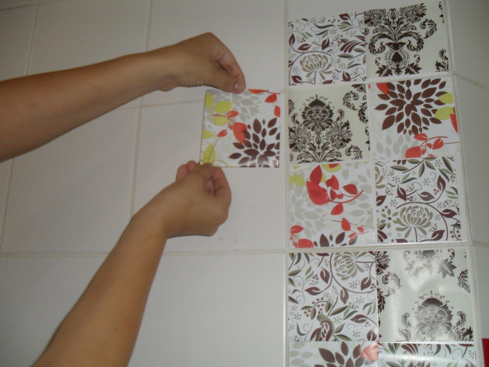 Casa de Boneca Decor Minha cozinha vintage com contact e azulejos de p # Azulejo Cozinha Com Papel Contact