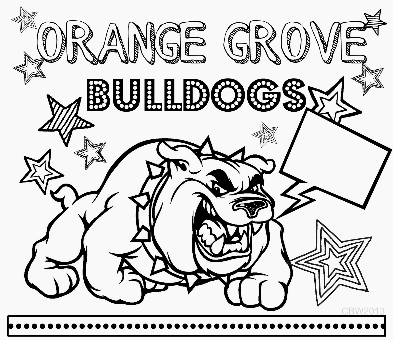 Free Coloring Pages Of American Bulldog