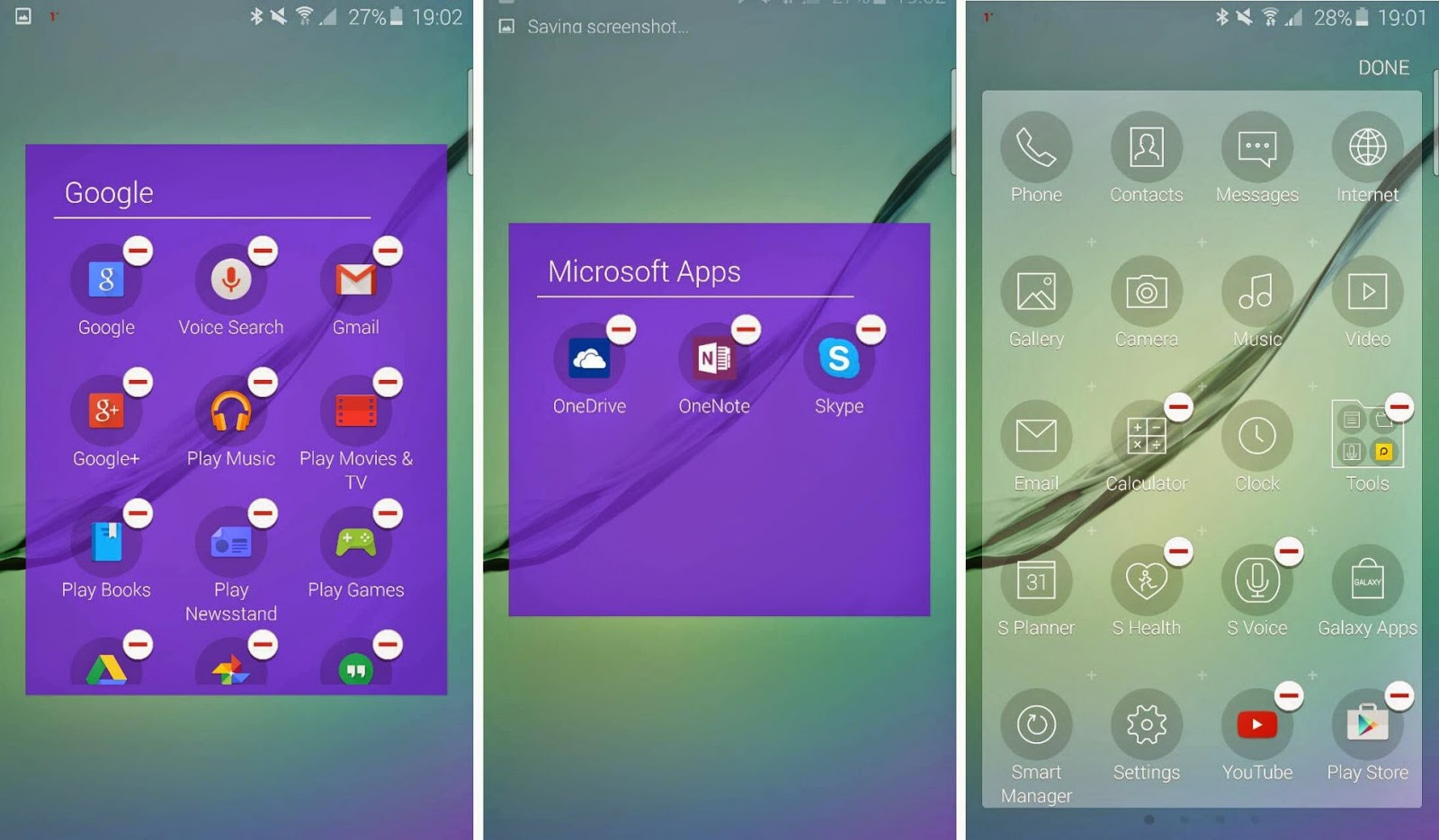 Samsung Galaxy S6 app removal option