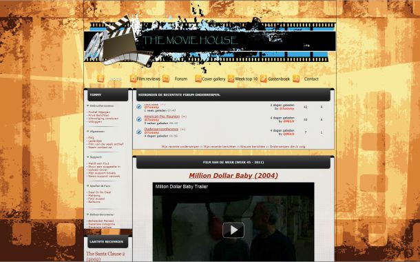 Free Movies Retro Grunge Php-fusion Theme Template