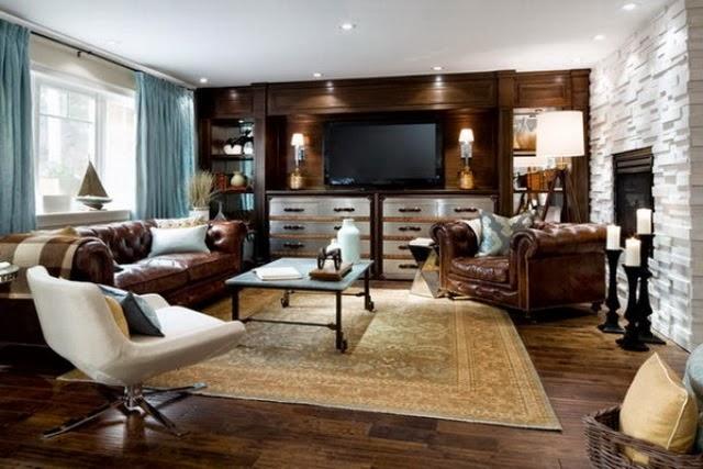 modern klasik oturma odası