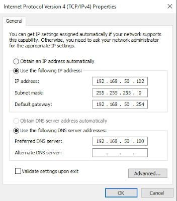 Settingan IP Client