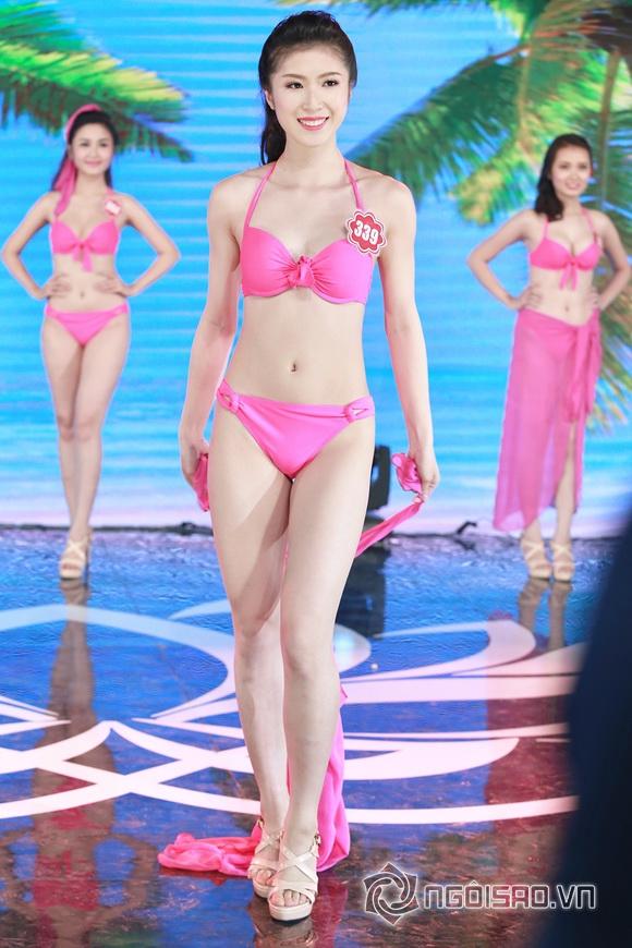 Ảnh gái xinh Hoa hậu miền bắc 2014 với bikini 20