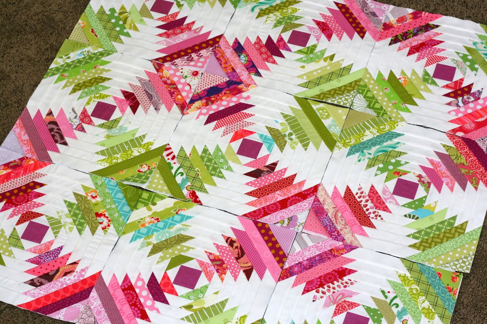 Gigis Thimble Pineapple Quilt Progress Patterns