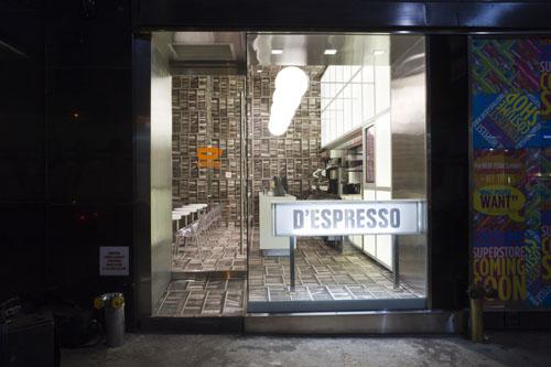 D'Espresso shopfront