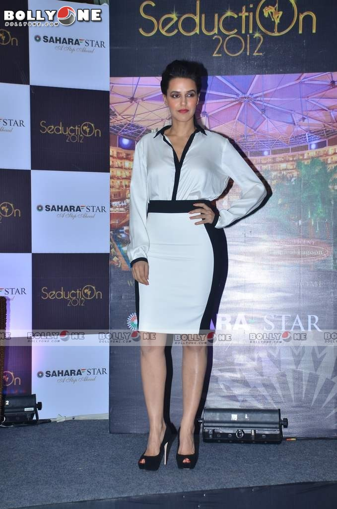 Neha Dhupia at Sahara Star Seduction press meet