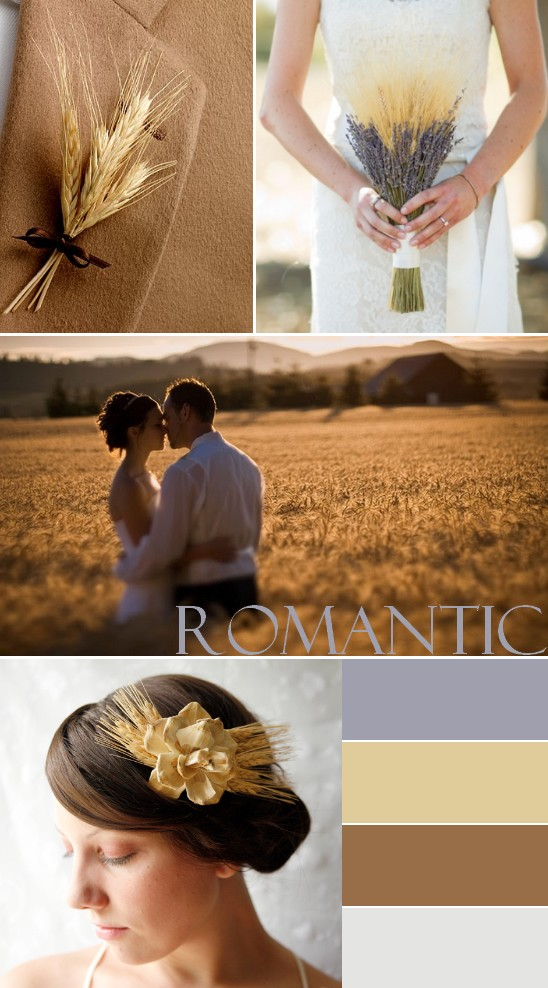 Romantic fall wedding colors