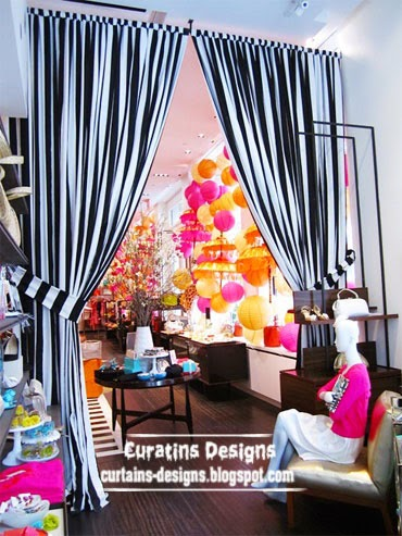 black and white striped curtains, doorway curtain designs