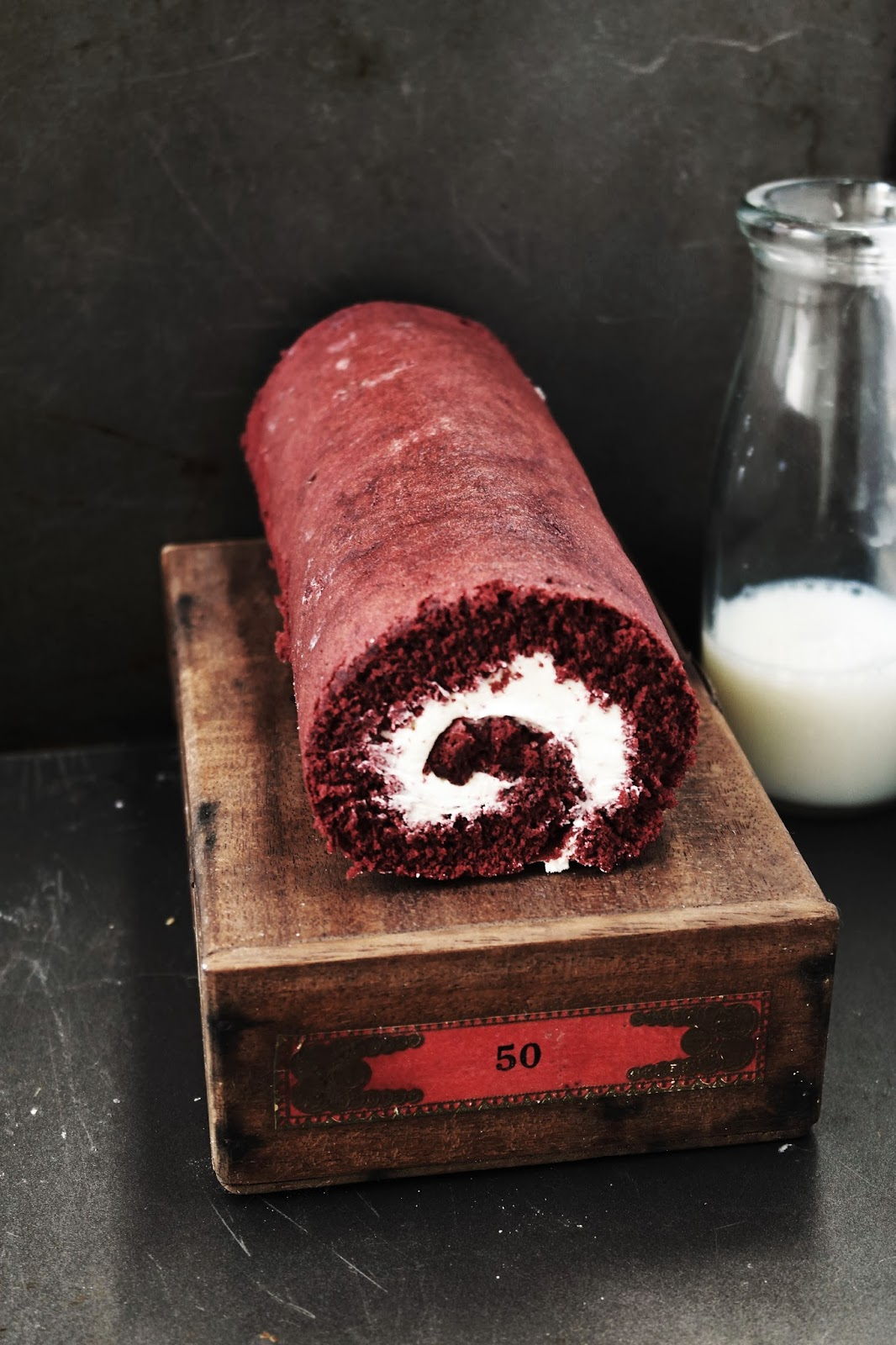 Red Velvet Roulade Roll Cake