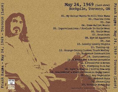 FZ 1969-05-24 Toronto - Late Show