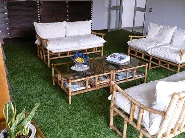 Trang trí phòng khách của bạn với cỏ nhân tạo