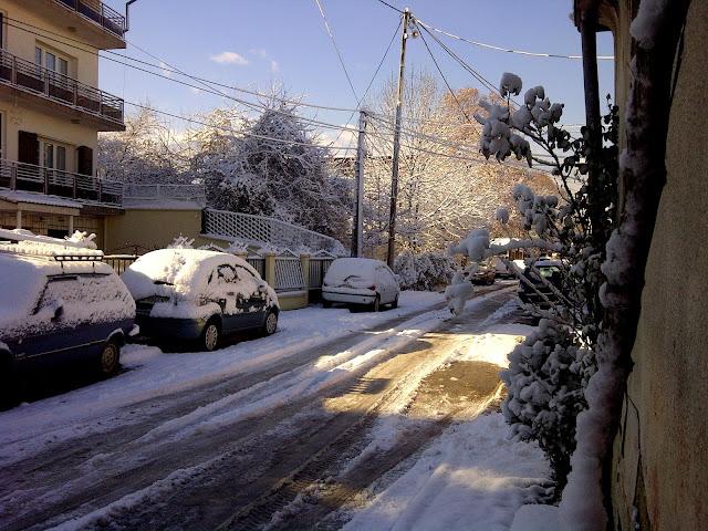Snowy street of Bitola