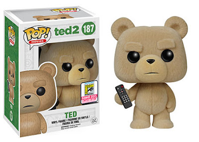 "San Diego Comic-Con 2015 Exclusive Ted 2 ""Flocked"" Ted Pop! Movies Vinyl Figure by Funko"