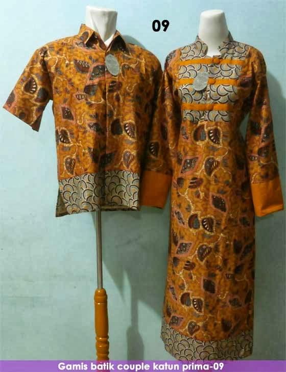 Gamis batik couple 09 Baju gamis couple online