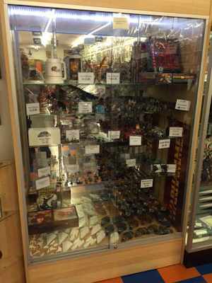Display Case at Games & Comics in London, KY