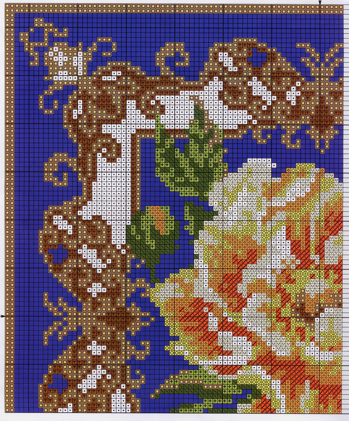 Схемы для вышивки крестом риолис подушки