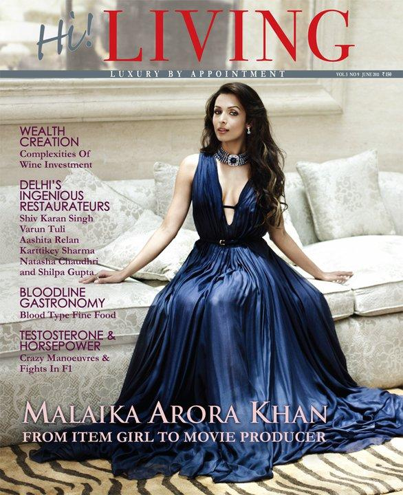 Malaika Arora Khan - Malaika Arora Khan on Hi Living Magazine Cover june 2011 Edition