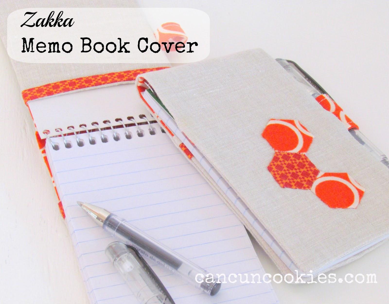 Book Cover Tutorial : Cancuncookies zakka memo book cover tutorial