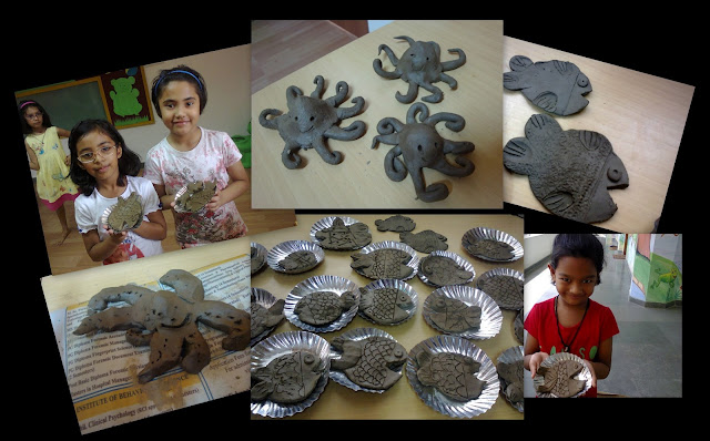 Clay Projects completed by kids