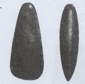 Contohnya: kapak persegi dan kapak lonjong.