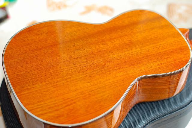 Ohana TK-35G-5 Tenor 5 string ukulele back