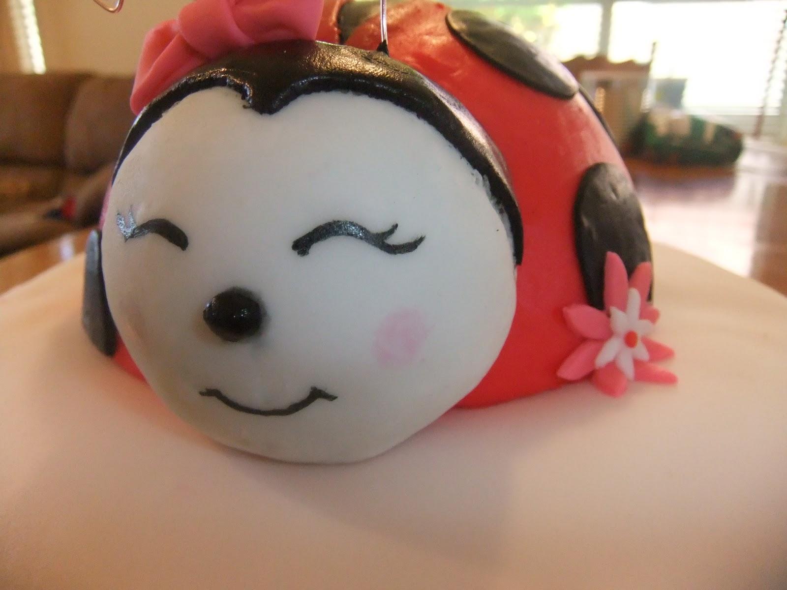 cakefullness ladybug baby shower cake