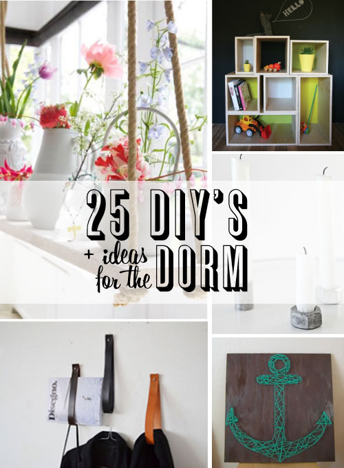 weekend project 25 diy dorm ideas poppytalk