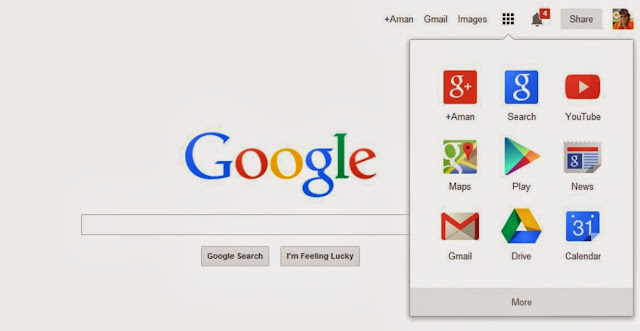 Google Update New Bar and Logo
