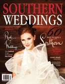 Gardenia & Anemone Hair Flowers Featured in the 2010 issue of Southern Weddings