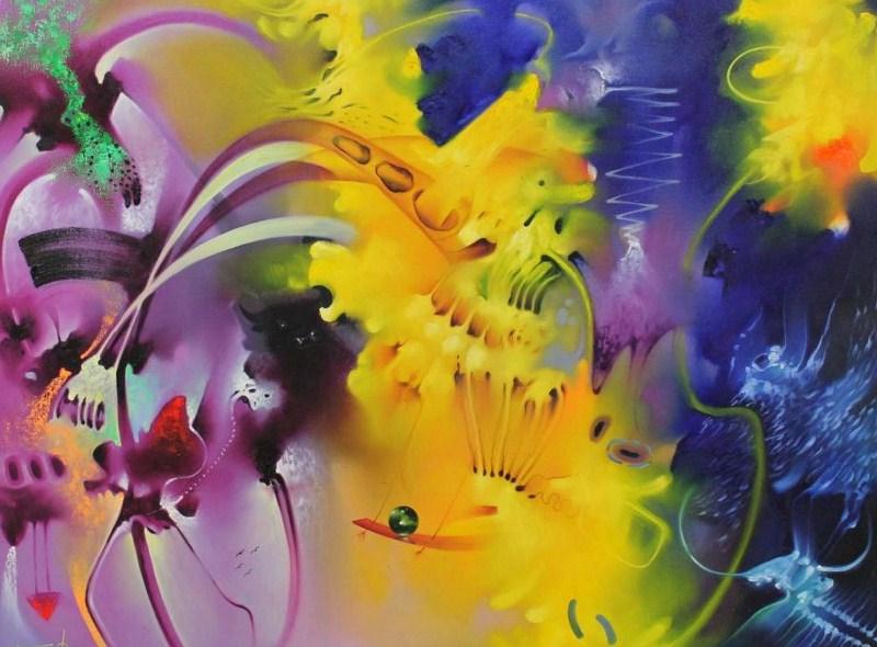 Pinturas cuadros lienzos leo pintura abstracta for Imagenes de cuadros abstractos faciles