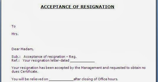 Best Ideas About Formal Resignation Letter Sample On Resignation