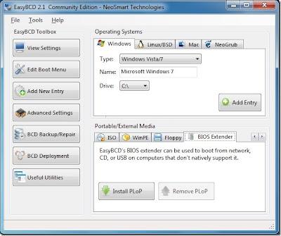 easybcd 2.2 beta, easybcd para windows 8, mudar menu de inicialização