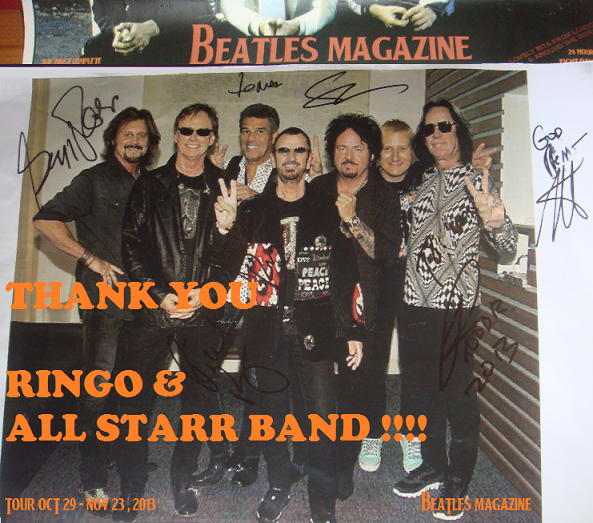 THANK YOU RINGO & ALL STARR BAND!